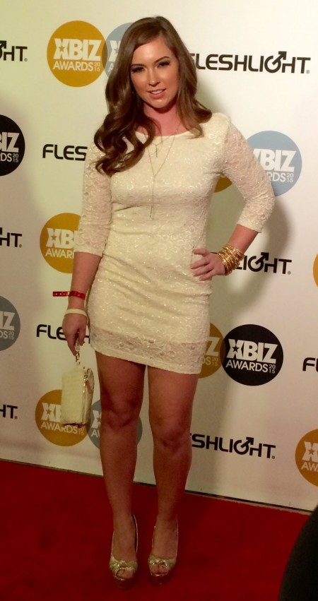 Maddy O'Reilly at the XBiz Awards 2015 in Los Angeles