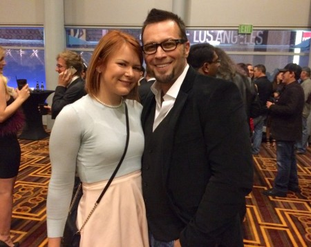 Claire Robbins and Axel Braun at the XBiz Awards 2015 in Los Angeles