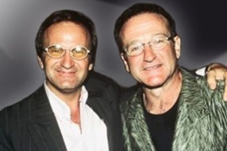 Poudensan posted a photo of himself and Robin Williams from when they met on his website. PHOTO: Alan Robin