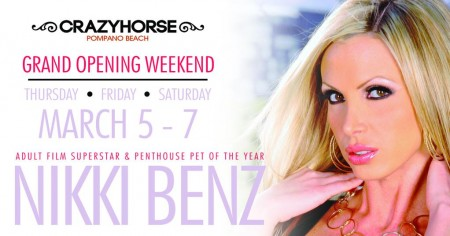 Nikki Benz Headlines Crazy Horse Grand Opening This Weekend in Pompano Beach