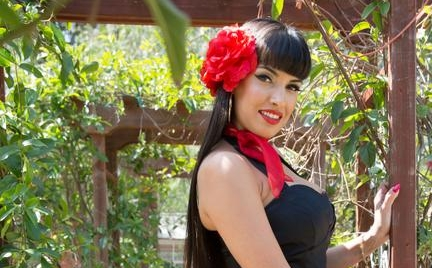 Go Back In Time With Mercedes Carrera In Busty Pin Ups