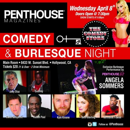 Penthouse Presents its 2nd Penthouse Burlesque & Comedy Night at the Comedy Store Wed, April 8th