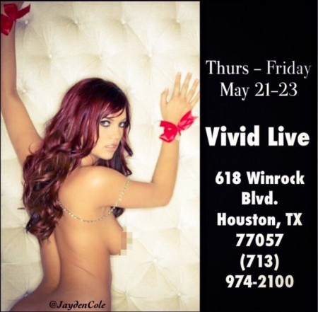Former Disney World Snow White Actress Jayden Cole to Appear at Vivid Live Houston, May 21-23