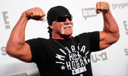 FILE - Hulk Hogan attends the NBCUniversal Cable Entertainment 2015 Upfront at The Jacob Javits Center on Thursday, May 14, 2015, in New York. (Photo by Evan Agostini/Invision/AP)