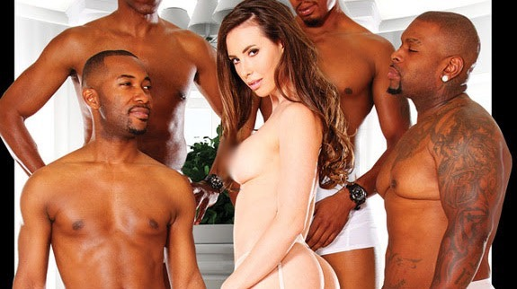 Casey Calvert Performs Her 1st Interracial Gangbang in 'Blacked Out 3,' Now Available