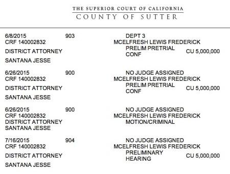 Lewis McElfresh court dates