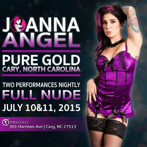 All That Glitters is Joanna Angel Live at Pure Gold in Cary, NC