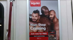 Gay apps ads pulled from trains as 'public sex is against the law'