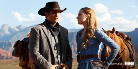 Westworld stars James Marsden and Evan Rachel Wood