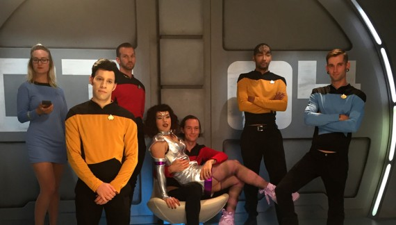 On the set of Kink.com's 'Star Trek: The Next Penetration'
