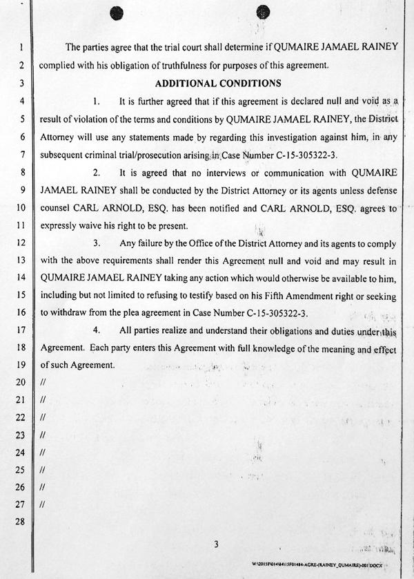 Rainey Agmt to Testify 3