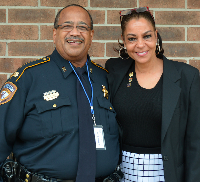 Major Edwin A. Davis of the Harris County Sheriff's Office and Kathryn Griffin-Grinan