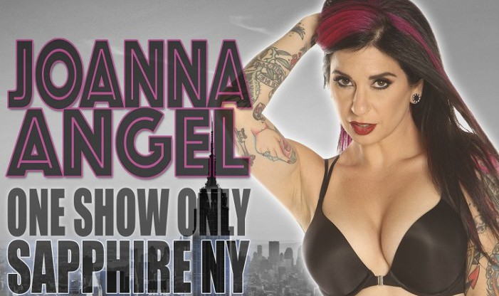 Joanna Angel Heads to NYC for 1 Night Only for the Inked Magazine Party at Sapphire Gentlemen's Club