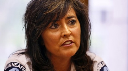 """Minneapolis Police Chief Janee Harteau, shown in 2013, said in August 2015 that """"we are no longer using undercover operations to investigate suspected prostitution in massage businesses."""""""