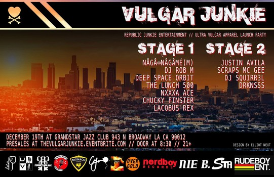 Grand Star Jazz Club Hosting The Vulgar Junkie Launch Party December 19