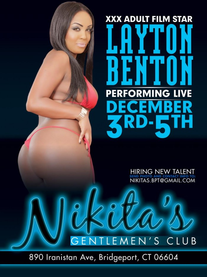 Layton Benton Features Nikita's Gentlemen's Club December 3-5