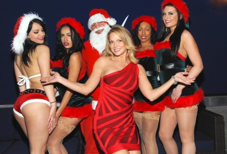 Savanna Samson, Santa Claus, Vivid Cabaret NY girls
