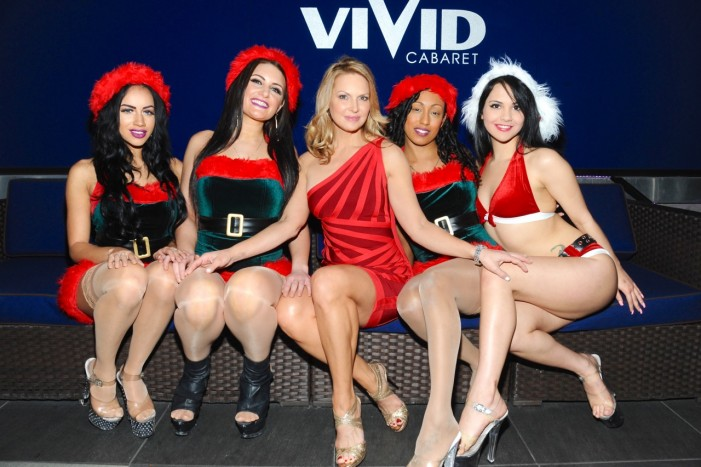 Santa Claus, Savanna Samson, and the Vivid Cabaret NYC girls–photos