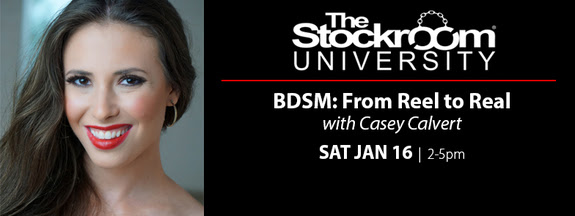 Casey Calvert Presents 'BDSM: From Reel to Real' Seminar at Stockroom University