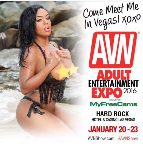 Layton Benton Signing at AVN Booth During Adult Entertainment Expo