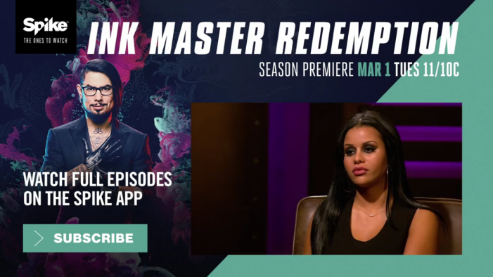 Maryjean Returns to Spike-TV Ink Master Redemption Season 2 Premiere, March 1st at 11pm EST