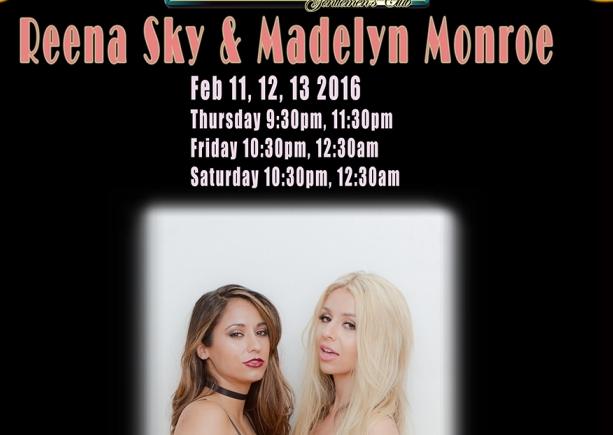 Reena Sky & Madelyn Monroe Dancing at Crazy Horse in San Francisco Feb 11-13