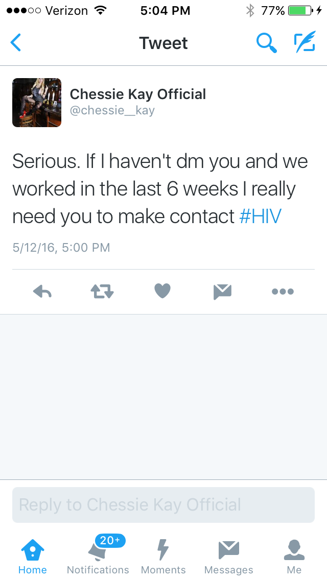 Social Media Account Claiming To Be UK Pornstar Chessie Kay Tweets HIV Warning UPDATED