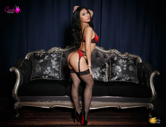 Cindy Starfall Gets The Cover Of Hustler's California Creamin'
