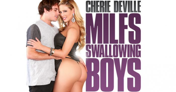Cherie DeVille On The Cover of 3rd Degree's 'MILFS Swallowing Boys'