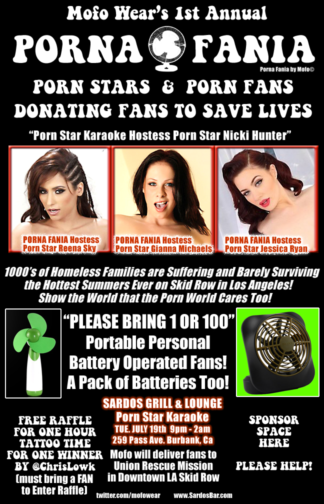 Porna Fania Porn Stars and Porn Fans, Donating Fans to Save Lives #Reena Sky #Jessica Ryan