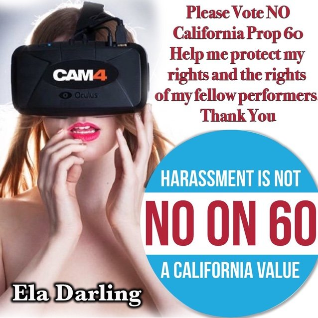 Ela Darling Says No to Prop 60   #NoProp60