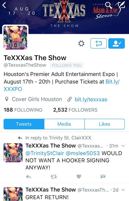 'TeXXXas The Show' Promoter Rips Off Performers, Then Calls Them Hookers….
