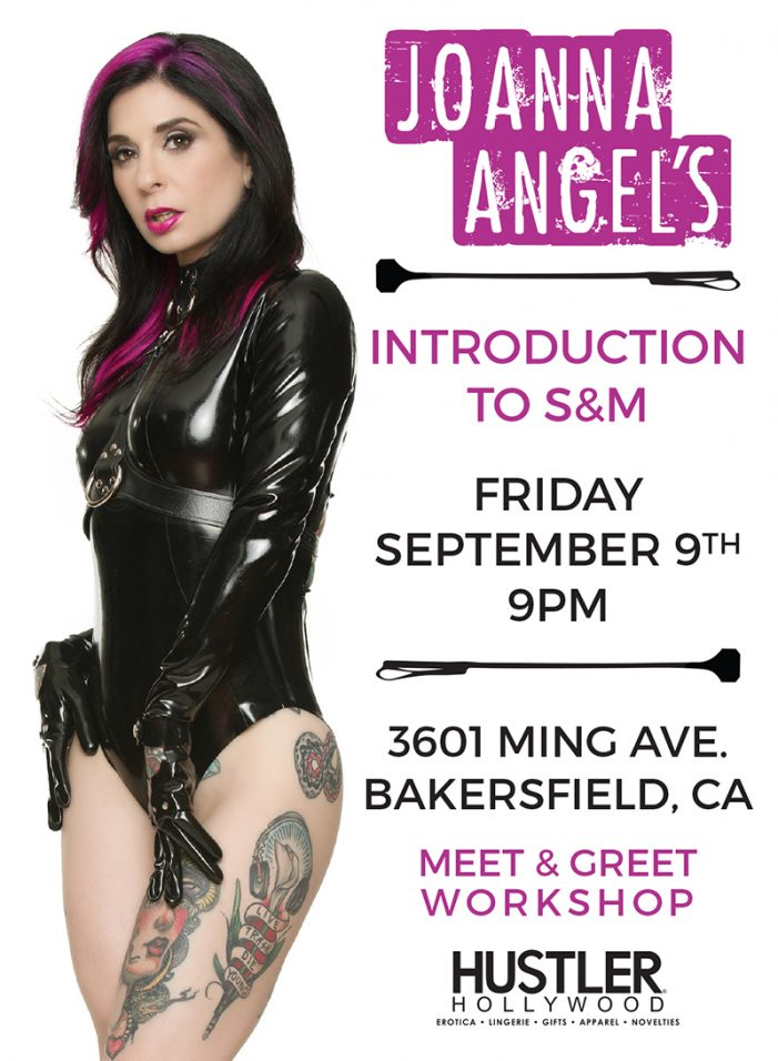 Joanna Angel to Host 'Introduction to S&M' Workshop at Hustler Hollywood Bakersfield