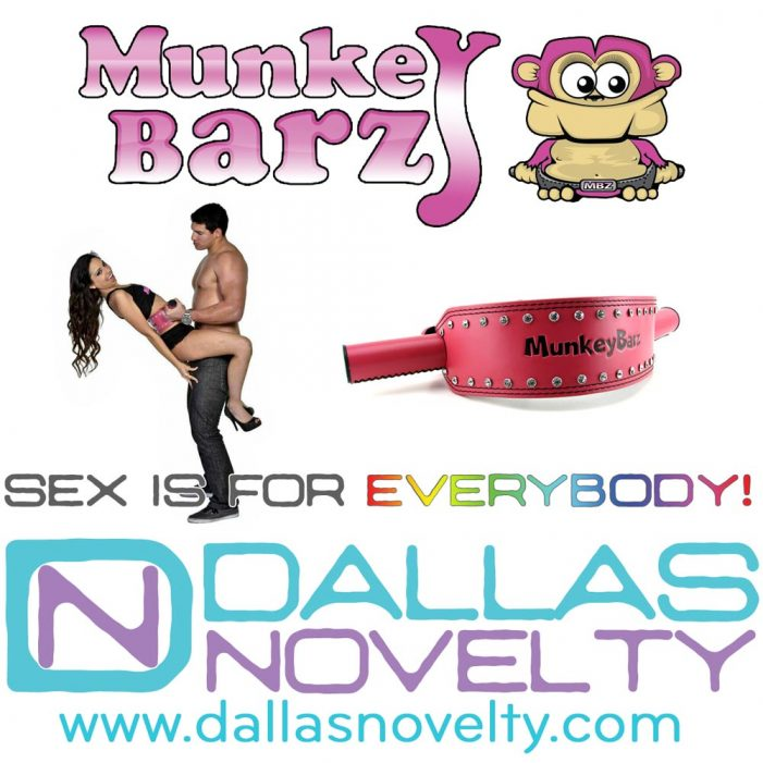 Dallas Novelty Presents the New Line of Munkey Barz Sex Belts with Love Handles