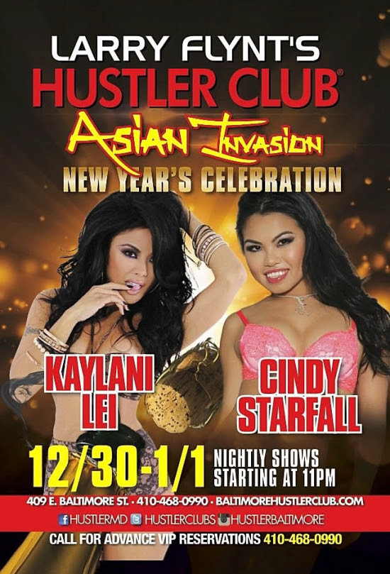 Ring In The New Year With CINDY STARFALL At Hustler Club, Baltimore!