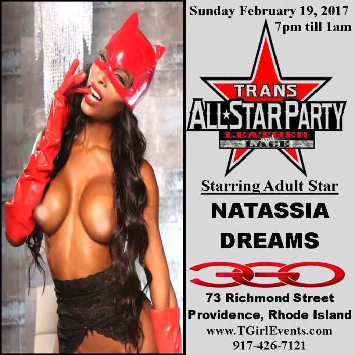 Natassia Dreams Hosts Trans All-Star Leather & Lace Party at Ego Nightclub 2/19