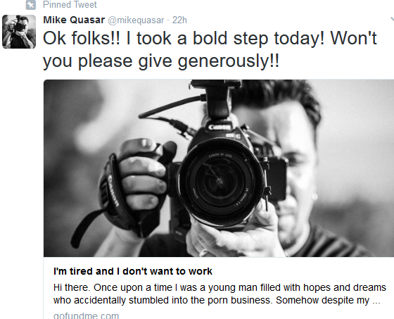 Mike Quasar's Go Fund Me Defeats Mike South's In Less Than 24 Hours