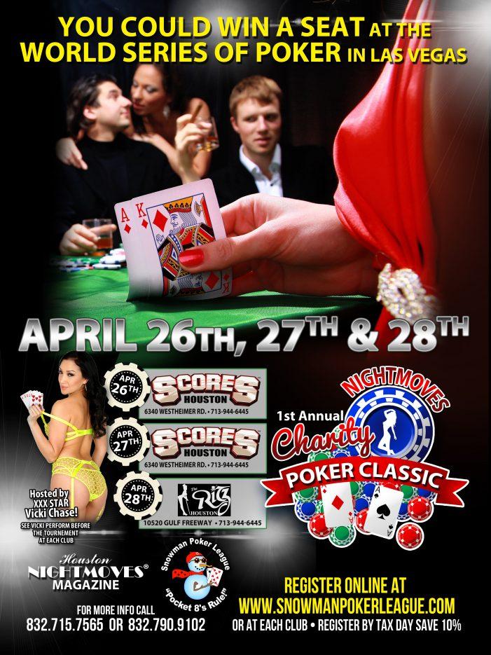 Vicki Chase to Host Houston NightMove Magazine's 1st Annual Charity Poker Classic