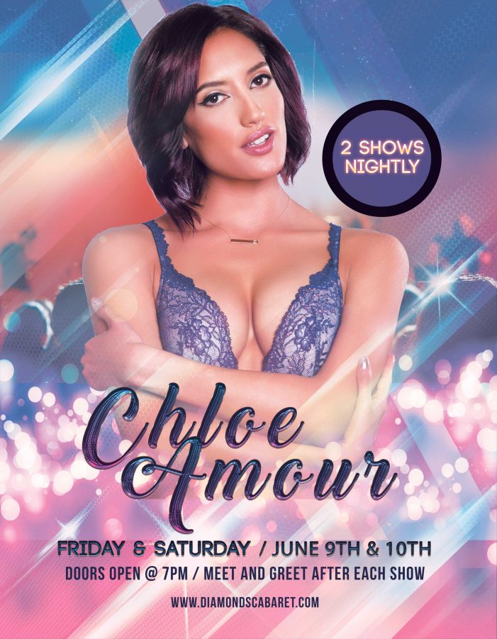 Chloe Amour Hits The Midwest This Week With Appearance at Diamonds Cabaret