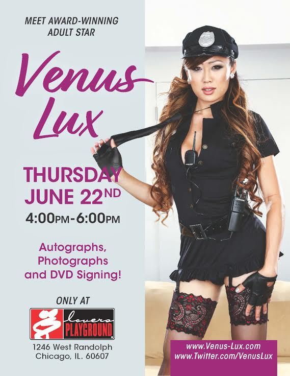 Venus Lux to Appear at Lovers Playground in Chicago Thursday June 22 4pm – 6pm