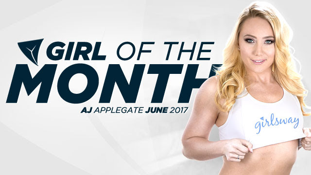 Girlsway Selects AJ Applegate as June 2017 Girl of the Month