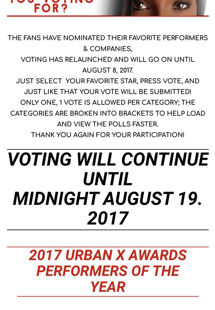 After Disclosing The Winners, Scam Urban X Awards Says Fuck August 8th, Lets Extend Voting Until Aug 19th