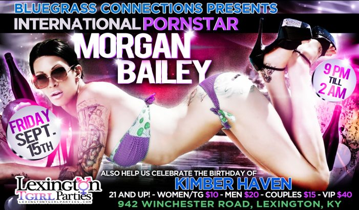 Transsexual Pornstar Morgan Bailey To Appear At BlueGrass Connections