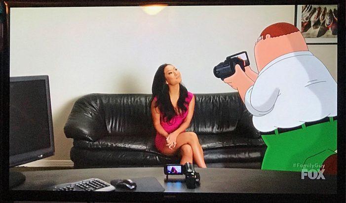 Asa Akira is on Family Guy tonight – Playing Asa Akira!