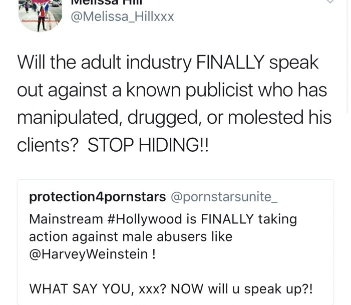 "A.P.A.G VP Melissa Hill Calls Out James Bartholet For Being A ""Predator"""