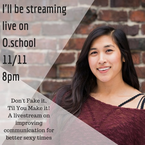 "Mia Li's ""Don't Fake it Till You Make it"" Course Debuts Tonight at O.school"