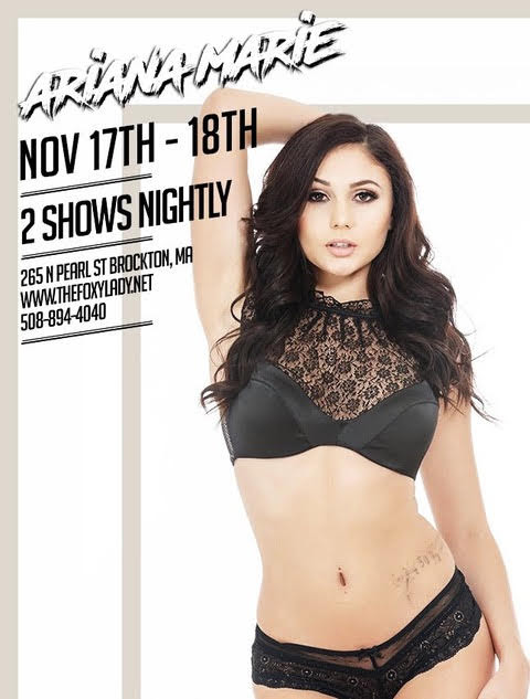 Ariana Marie To Headline Foxy Lady In Brockton, MA