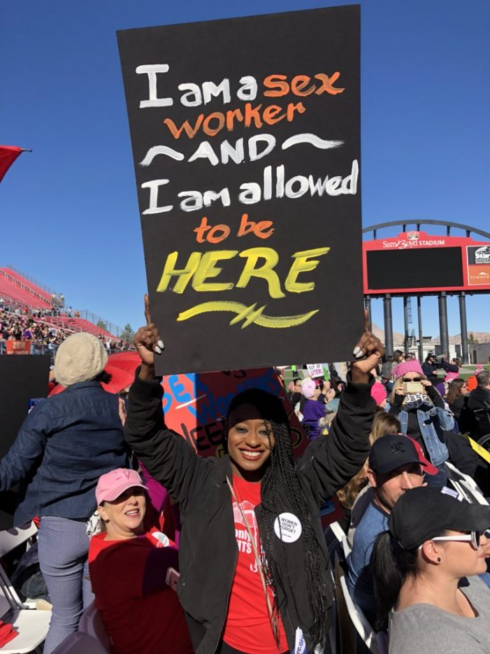 Kelli Provocateur Represents Sex Workers in the Las Vegas Women's March