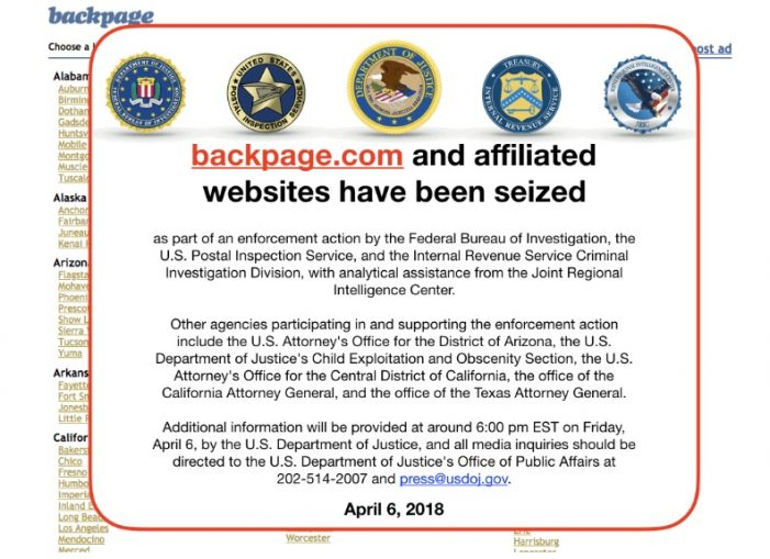 BackPage.com Seized By The Feds