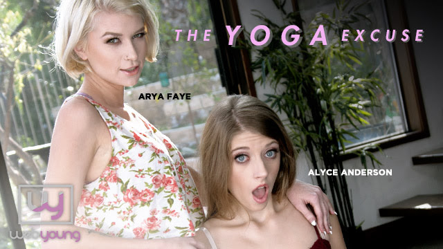 Alyce Anderson Gets Bendy with Arya Fae in Girlsway/WebYoung's The Yoga Excuse